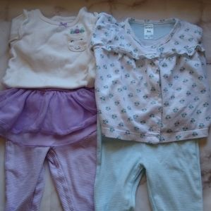Carter's Girls Set of 2 Outfits 9 months